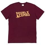 [더블콤보] DOUBLECOMBO - SHARK FIN LOGO TEE (WINE) 반팔 반팔티 티셔츠
