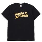 [더블콤보] DOUBLECOMBO - SHARK FIN LOGO TEE (BLACK) 반팔 반팔티 티셔츠