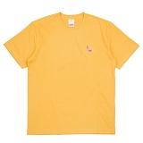 [더블콤보] DOUBLECOMBO - FLAMINGO TUBE TEE (YELLOW) 반팔 반팔티 티셔츠