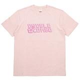 [더블콤보] DOUBLECOMBO - ALOHA FLOWER LOGO TEE (PINK) 반팔 반팔티 티셔츠