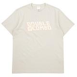 [더블콤보] DOUBLECOMBO - ALOHA FLOWER LOGO TEE (BEIGE) 반팔 반팔티 티셔츠