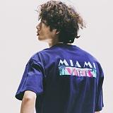 [네버에버]NEVEREVER - MIAMI VIBES TEE (NAVY) 반팔 반팔티 티셔츠