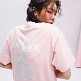[네버에버]NEVEREVER - WORLD TOUR TEE (PINK) 반팔 반팔티 티셔츠