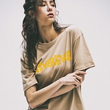 [네버에버]NEVEREVER - ENDING CREDIT TEE (BEIGE) 반팔 반팔티 티셔츠