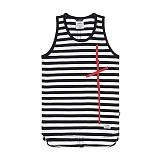 [스티그마]STIGMA - CRUZ LONG SLEEVELESS BLACK STRIPE 나시티_민소매 티셔츠