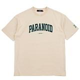 [니드네스]NEEDNESS - PARANOID TEE (BEIGE) 반팔 반팔티 티셔츠