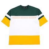 [니드네스]NEEDNESS - COLOR BLOCK TEE (GREEN) 반팔 반팔티 티셔츠