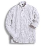 [젠블랙] zenblack - 화이트 스퀘어 롤업 셔츠 ZSH045