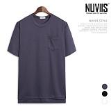 뉴비스 - 분또 앞면 포켓 반팔 티셔츠 (NB192TS)