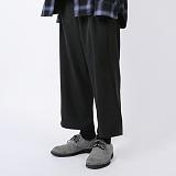 [NUHABIT] 뉴해빗 - CLASSIC WIDE PANTS - 블랙 - 와이드 팬츠