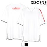 [DISCENE] 디씬 썸머 옆지퍼 반팔 티셔츠 2컬러