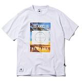 [그루브라임]Grooverhyme - 2017 LA. BOX PRINT T-SHIRT (WHITE) [GT010F23WH] 반팔티 티셔츠