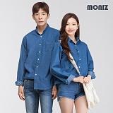 [모니즈] 브이 원포켓 데님셔츠 (3color) SHT429