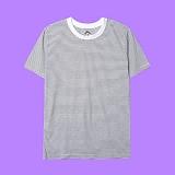[superlative] 슈퍼레이티브 - [S] 단가라 반팔티 - 반팔 티셔츠 - 화이트
