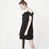 [비에이블투]BABLETWO Off The Shoulder Belt Dress (BLACK) 오프 숄더 벨트 드레스 원피스