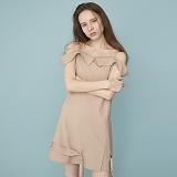 [비에이블투]BABLETWO Off The Shoulder Belt Dress (BEIGE) 오프 숄더 벨트 드레스 원피스