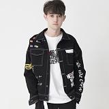 [비에이블투]BABLETWO Artist Hommage Denim Trucker Jacket (BLACK) 데님 트러커 자켓