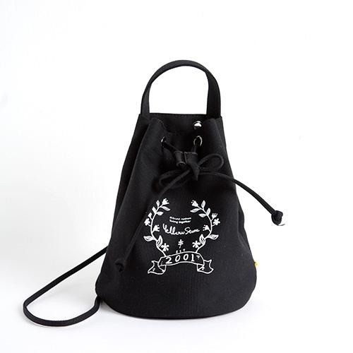 [옐로우스톤]미니 복조리백 - YS2060BK /BLACK 에코백 캔버스 버킷백
