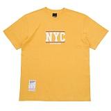 [에시드블랙] ACIDBLACK - NYC TEE (MUSTARD) 반팔 반팔티 티셔츠