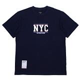 [에시드블랙] ACIDBLACK - NYC TEE (NAVY) 반팔 반팔티 티셔츠