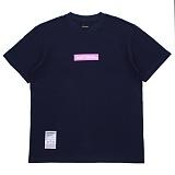 [에시드블랙] ACIDBLACK - BOX LOGO TEE (NAVY) 반팔 반팔티 티셔츠