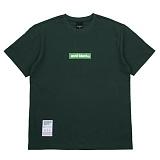 [에시드블랙] ACIDBLACK - BOX LOGO TEE (GREEN) 반팔 반팔티 티셔츠