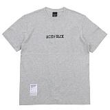 [에시드블랙] ACIDBLACK - LIGHTNING LOGO TEE (MELANGE) 반팔 반팔티 티셔츠