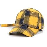 STIGMA - CRUZ CHECK BASEBALL CAP YELLOW 야구모자 볼캡