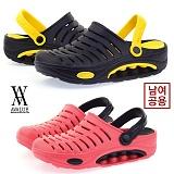 [에이벨류] 남여공용 에바 초경량 쿠션 샌달(블랙.핑크)711-뉴오투 커플 남자 여자 여름 슬리퍼 신발