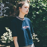 [테일러스튜디오] 테일러 하프넥 반팔 티셔츠 네이비