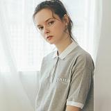 [테일러스튜디오] 테일러 로고 PK 셔츠 그레이