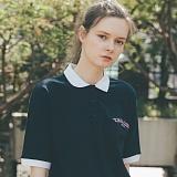 [테일러스튜디오] 테일러 로고 PK 셔츠 네이비