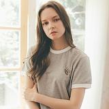 [테일러스튜디오] 럭비 라운드 반팔 티셔츠 그레이