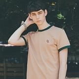 [테일러스튜디오] 럭비 라운드 반팔 티셔츠 베이지
