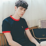 [테일러스튜디오] 럭비 라운드 반팔 티셔츠 네이비