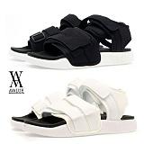 [에이벨류] 남성 찍찍이 컴포트 샌달 (블랙.화이트)712-아이스샌달 남자 슬리퍼 여름 신발