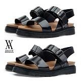 [에이벨류] 남성 유광 레더 버클 샌달(블랙.브라운)715-티스토리712 남자 슬리퍼 여름 신발