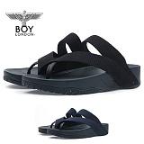 [보이런던] 남성 4cm 키높이 스트랩 쪼리 슬리퍼 (블랙)730-스트랩 남자  여름 신발 쿠션