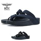 [보이런던] 남성 4cm 키높이 스트랩 쪼리 슬리퍼 (네이비)730-스트랩 남자  여름 신발 쿠션