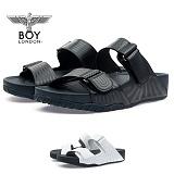 [보이런던] 남성 모던 라인 키높이 4cm 슬리퍼 (블랙)728-메인 남자 여름 신발 쿠션