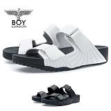 [보이런던] 남성 모던 라인 키높이 4cm 슬리퍼 (화이트)728-메인 남자 여름 신발 쿠션
