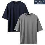 [해리슨] 쿠션지 오버 핏 반팔 라운드 티셔츠 SME1049