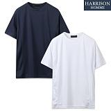 [해리슨] 쿠션지 옆 곡선 절개 반팔 라운드 티셔츠 SME1048