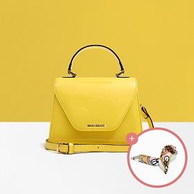 (★스카프증정)[브라비시모]새콤달콤나탈리 (Nathalie) - Yellow 여성가방