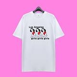 [superlative] 슈퍼레이티브 - [7SMH20] GIRLS GIRLS GIRLS 반팔 티셔츠 - 반팔 티셔츠 - 화이트