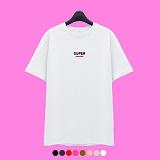 [superlative] 슈퍼레이티브 - [SST194] SUPER BAR 반팔 티셔츠 - 반팔 티셔츠 - 8컬러
