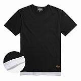[꼬미엔조] COMIENZO COMI LAYERED T-SHIRT (BLACK)_꼬미 레이어드 티셔츠