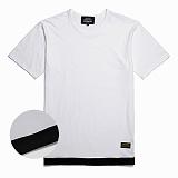 [꼬미엔조] COMIENZO COMI LAYERED T-SHIRT (WHITE)_꼬미 레이어드 반팔티셔츠
