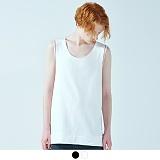 [어커버]ACOVER - SLEEVELESS LINE POINT T-SHIRT 슬리브리스 라인 포인트 티셔츠 나시티