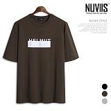 뉴비스 - 헬 머트 나염 오버핏 반팔 티셔츠 (SM033TS)